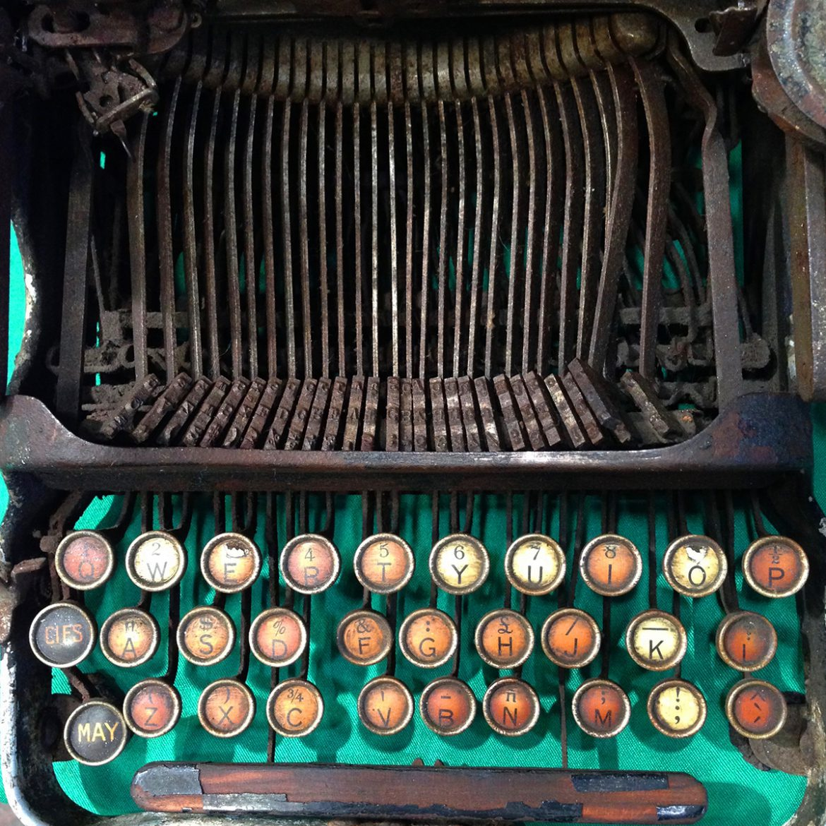 Antique typewriter - Words of the day