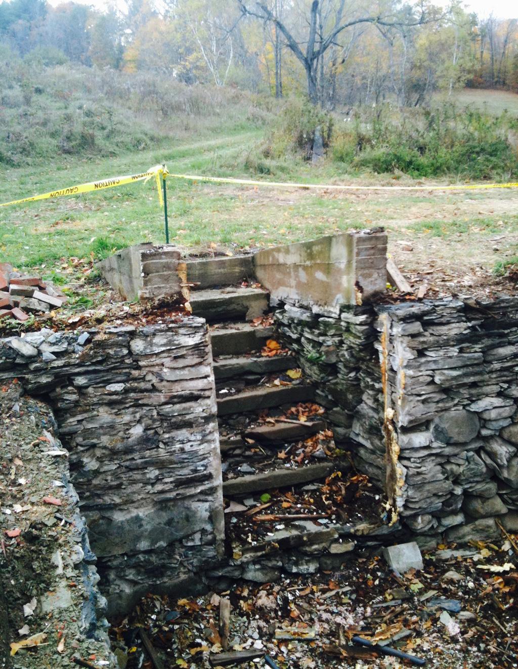 Cellar stairs at the Rennie Farm